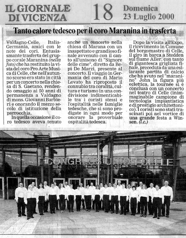 23 luglio 2000 stampa gruppo corale maranina