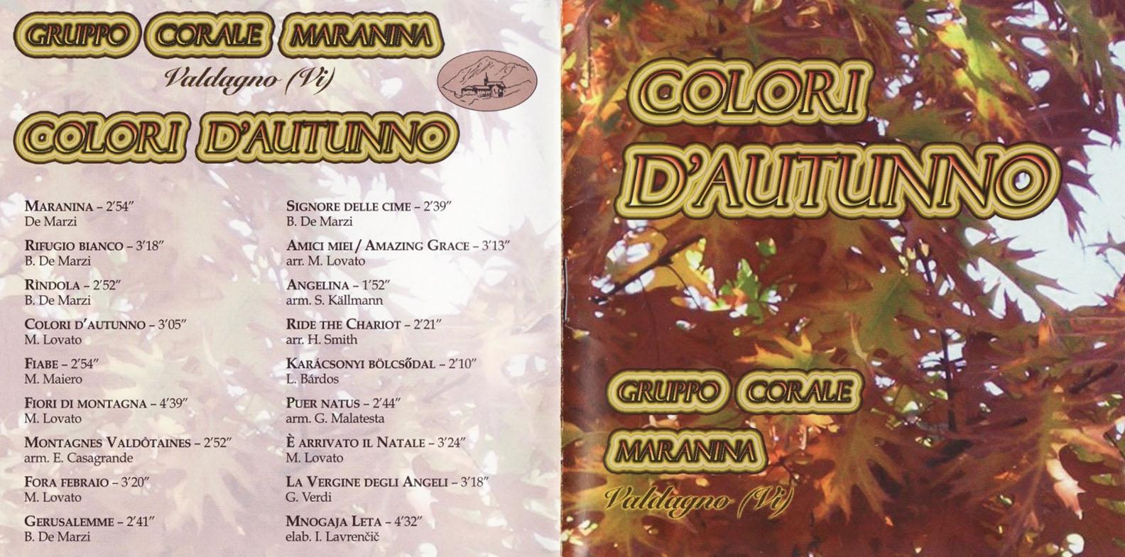 colori d'autunno gruppo corale maranina